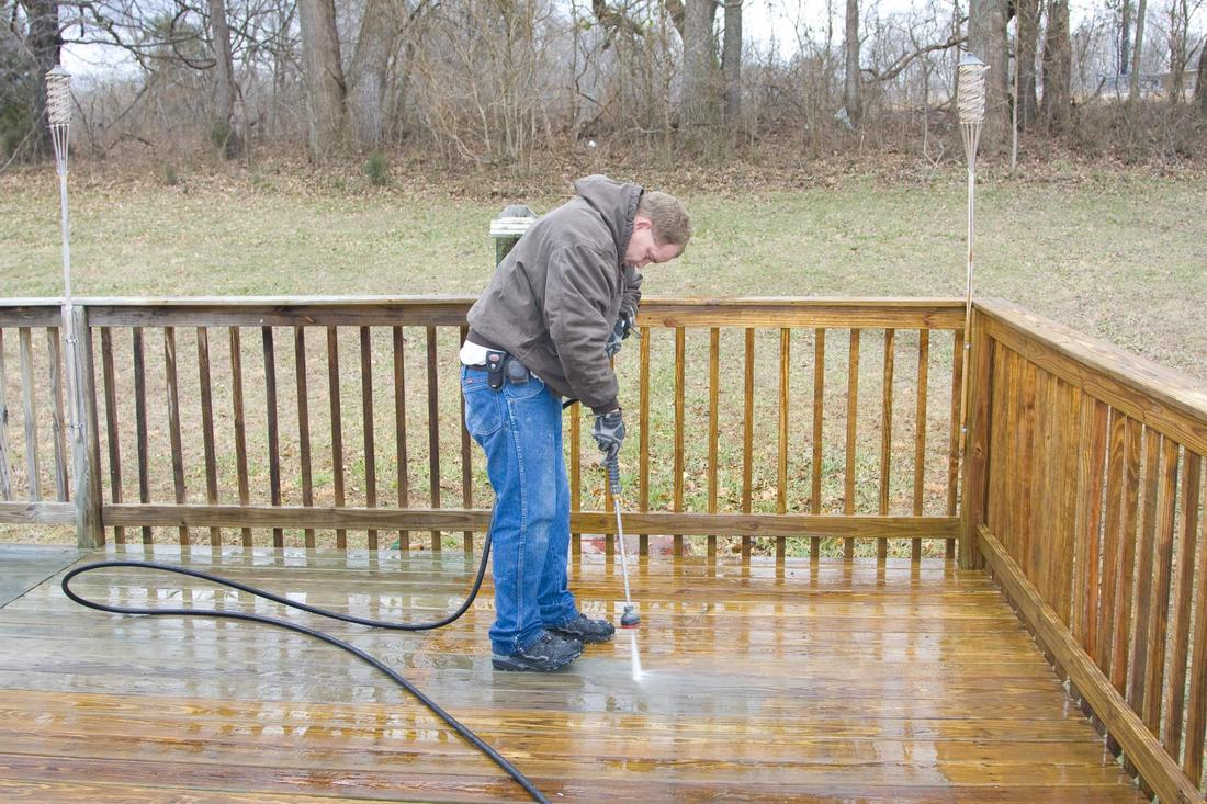 This is a picture of a residential pressure washing.